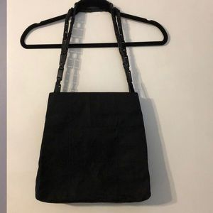 Small black nylon Prada tote.
